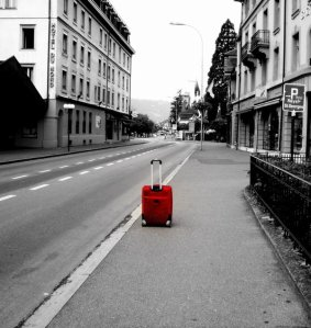 Suitcase in the City