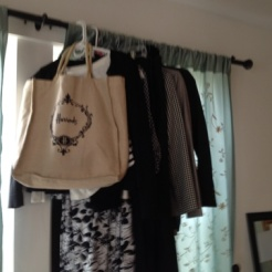 Stage travel clothes together before packing. This helps with the next step: editing.